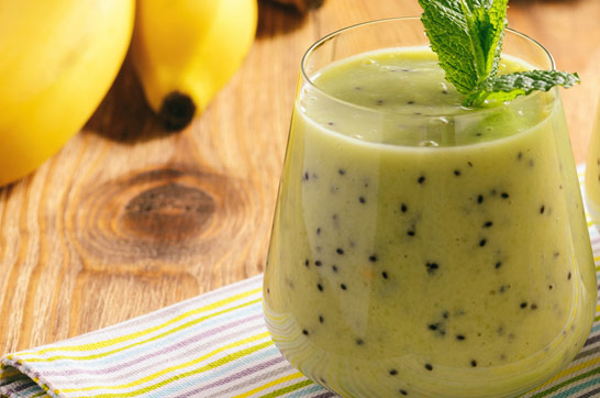 Rezept: Kiwi Bananen Smoothie