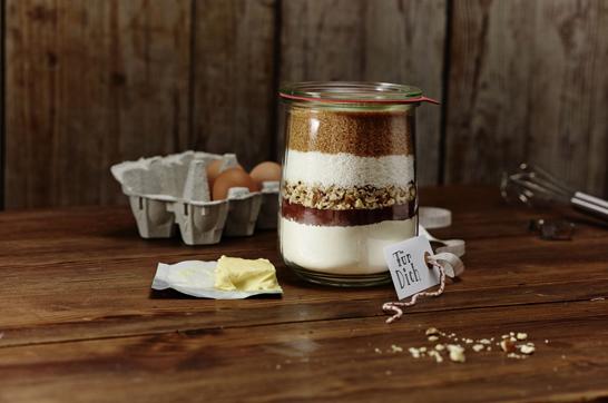 Rezept: Kuchenmischung im Glas